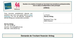 Plan Airbag Région Wallonne
